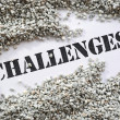 Challenges -- Treasure Word Series — Stock Photo