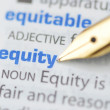 Equity - Dictionary Series — Stock Photo #11524842