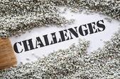 Challenges -- Treasure Word Series — Stock Photo