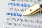 Equity - Dictionary Series — Stock Photo