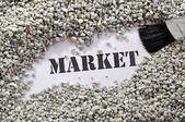 Mercado - tesouro palavra série — Fotografia Stock