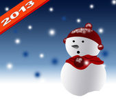 New Year 2013 with christmas design background — Stockfoto