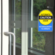 Automatic caution door sign — Stock Photo #11931417