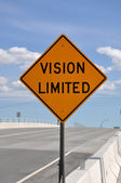 Vision Limited road sign — Stock Photo