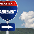 Agreement road sign - Stock Photo