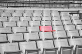 A field of empty seats — Stockfoto