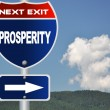 Prosperity road sign - Stock fotografie
