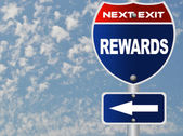 Rewards road sign — Stock Photo