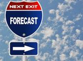 Prognose Straßenschild — Stockfoto