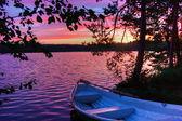Sunrise on lake — Stock Photo