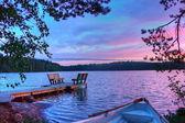 Zonsopgang op lake — Stockfoto