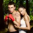 Stock Photo: Fashion photo of young man and woman