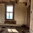Interior abandoned house prairie - Stock Photo