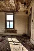 Interior abandoned house prairie — Stock Photo