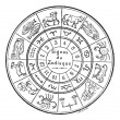 Signs of the Zodiac, vintage engraving. — Stock Vector