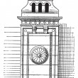 Chimney stack, vintage engraving. — 图库矢量图片
