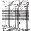 Retaining wall, vintage engraving. - Stockvektor