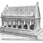 Tomb of Saint Etienne in Aubazine, vintage engraving. — Stock Vector #10997768