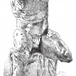 Belvedere Torso, vintage engraving — Stock Vector #10997948