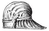 Sallet, vintage engraving — Stock Vector