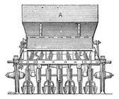 Hugh Planter, vintage engraving — Stock Vector