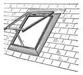 Skylight vintage engraving — Stock Vector
