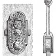 Lock, vintage engraving — Vector de stock #11000148