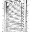 Jalousie window, vintage engraving. — Vektorgrafik