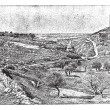 Valley of Jehoshaphat or Valley of Josaphat, vintage engraving. - Image vectorielle