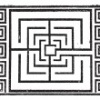 Maze, vintage engraving. -  