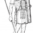 Royalty-Free Stock Vector Image: Roman Legionary, vintage engraving