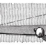 Latch, vintage engraving — Stock Vector
