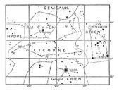 Единорог или Единорог созвездие, старинные гравюры — Cтоковый вектор