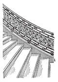 Stone Staircase made of Silt, vintage engraving — Stock Vector