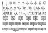 Gravura de runas, vintage — Vetorial Stock