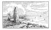 Menhir, vintage gravírování — Stock vektor
