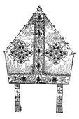 Bishop's Miter, vintage engraving — Stock Vector