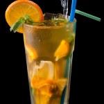 buzlu çay narenciye ve nar şurubu — Stok fotoğraf