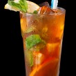 Ice tea with citrus and mint — Stock Photo