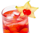 Red cocktaile with tonic and grenadine — Stock Photo