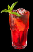 Ice tea with citrus and grenadine — Stock Photo