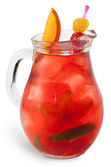 Refreshing sangria (punch) — Stock Photo