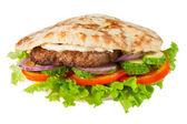 Pitta z hamburgera — Zdjęcie stockowe