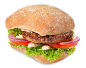 Sanwich with hamburger — Stock Photo