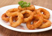 Fried onion rings — Stockfoto