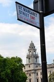 Sign for a London street — Stock Photo