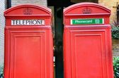 Red telephone booths — Stock Photo