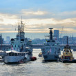 Stock Photo: Warships on Thames