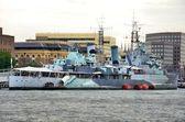 Battleship Belfast — Stock Photo