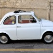 White Fiat 500 — Stock Photo #11692538